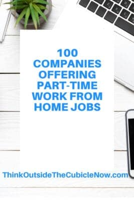 100 Companies Offering Part-Time Work From Home Jobs | Think